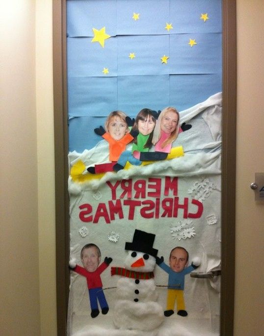 Christmas door decorating contest ideas classroom