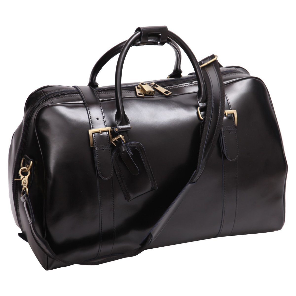 Leathario Sac de Voyage en Cuir Homme Cabas de Voyage Sac en cuir de week-end Sac Bagage Cabine Marron ou Noir pcMmx