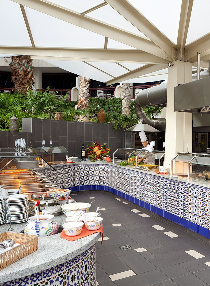 Hotel Seaside Sandy Beach Restaurant And Terrace Lavish Breakfast Buffet With Whole Foods Lunch Small Hot Cold Dinner Theme
