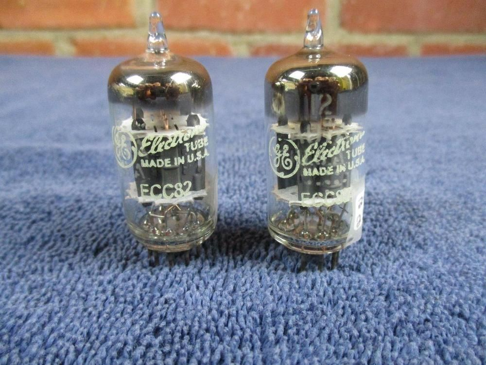 Matched Pair Ge 12au7 Ecc82 Grey Plate Halo Getter Tested Vacuum Tubes Ge With Images Grey Plates Tube Vacuum Tube