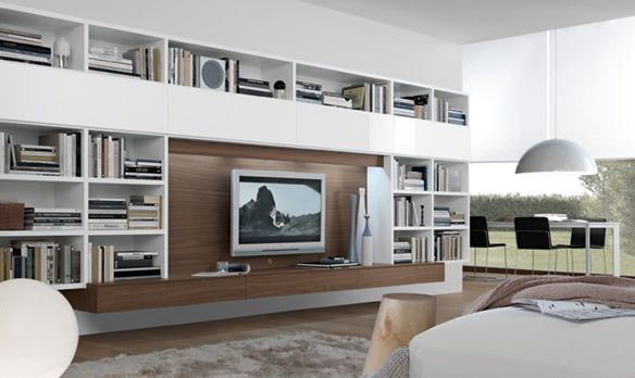 http://www.bkgfactory.com/category/Entertainment-Center/ Pared completa es storage. Solo que con puertas