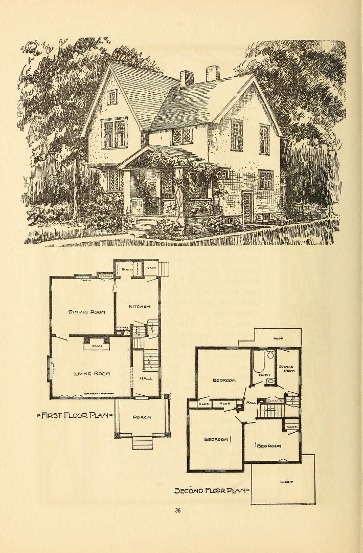 Wildwood Homes Being A Collection Of Houses A House Blueprints Cottage Floor Plans Sims House Plans