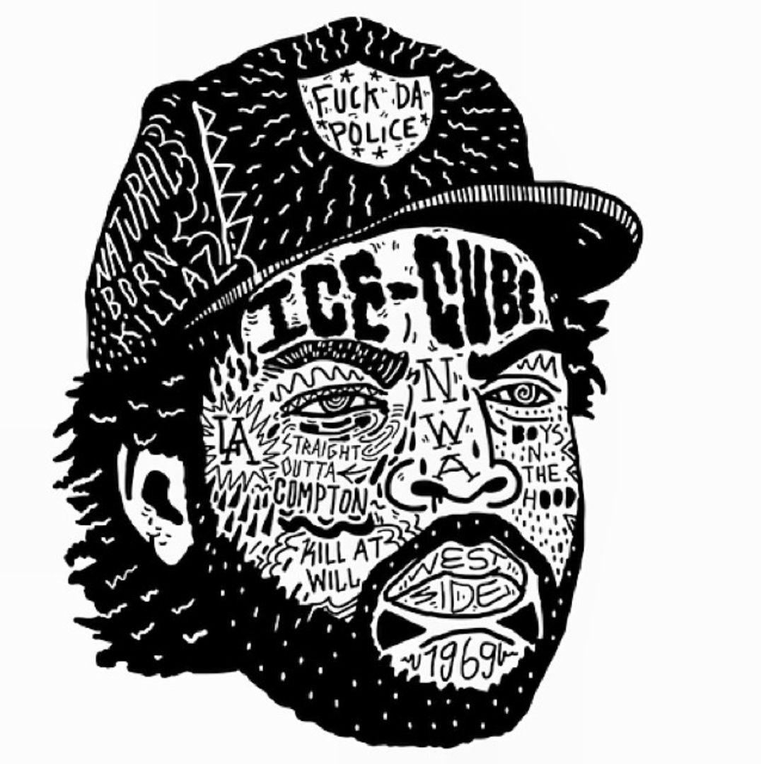 Resurrectinghiphop Ice Cube Ice Cube Nwa Ice Cube Rapper Illustration Art
