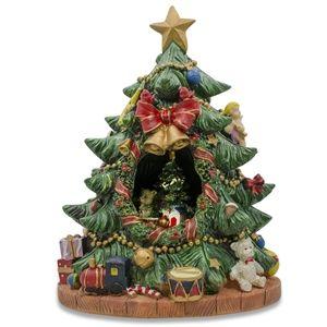 Spinning Musical Tabletop Christmas Tree Figurine Christmas Tree Music Box Tabletop Christmas Tree Christmas Tree