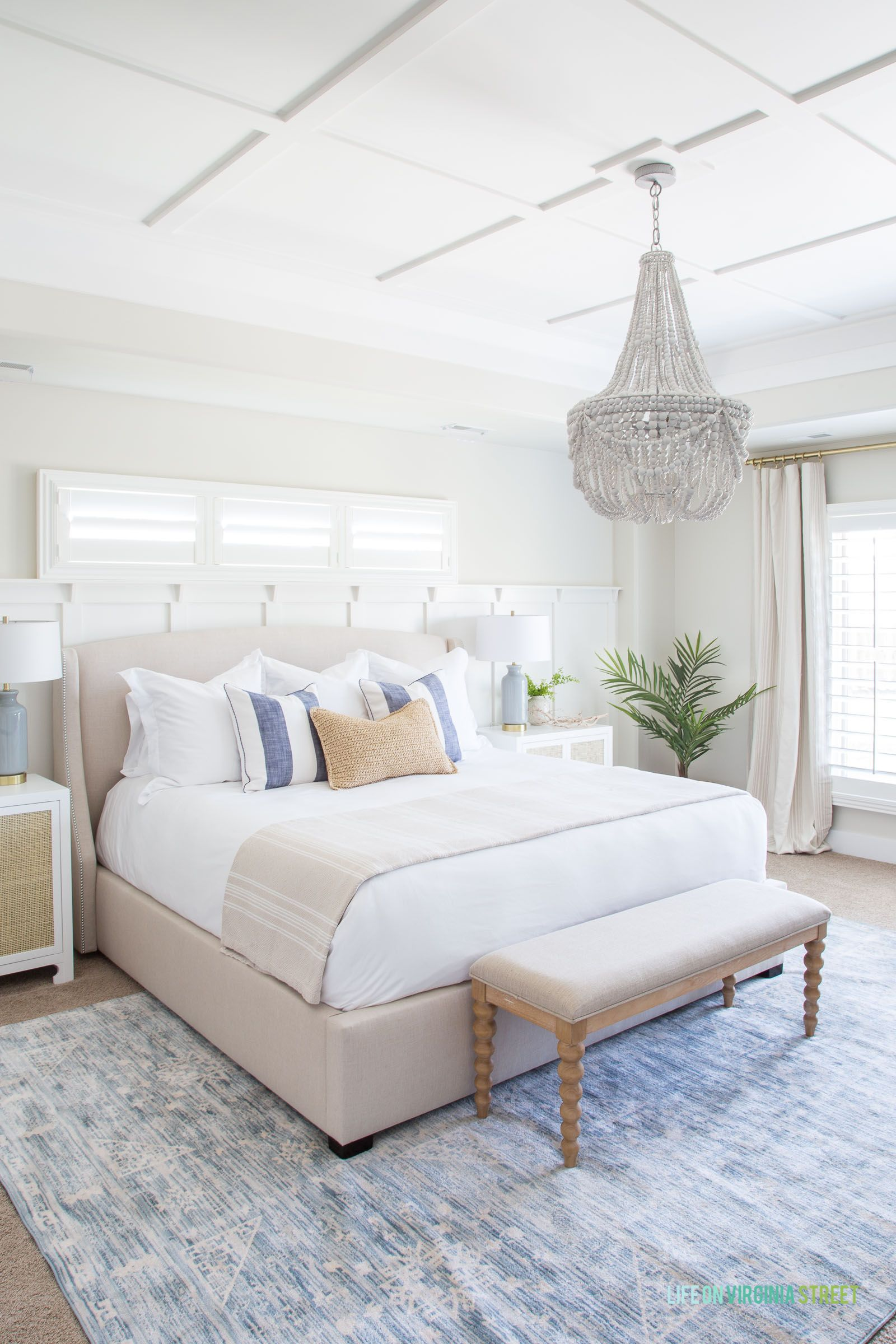 Natural And Organic Master Bedroom Reveal Elegant Coastal Decor Coastal Master Bedroom Master Bedroom Makeover