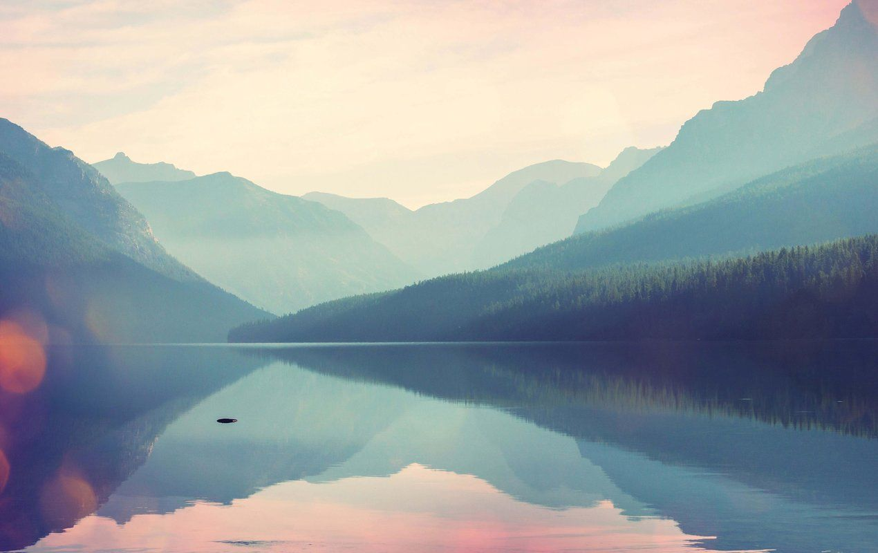Morwenna Removable Watercolor Glacier National Park 7 92 L X 150