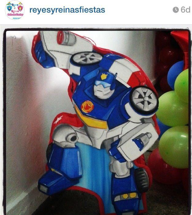 Rescue bots birthday piñata