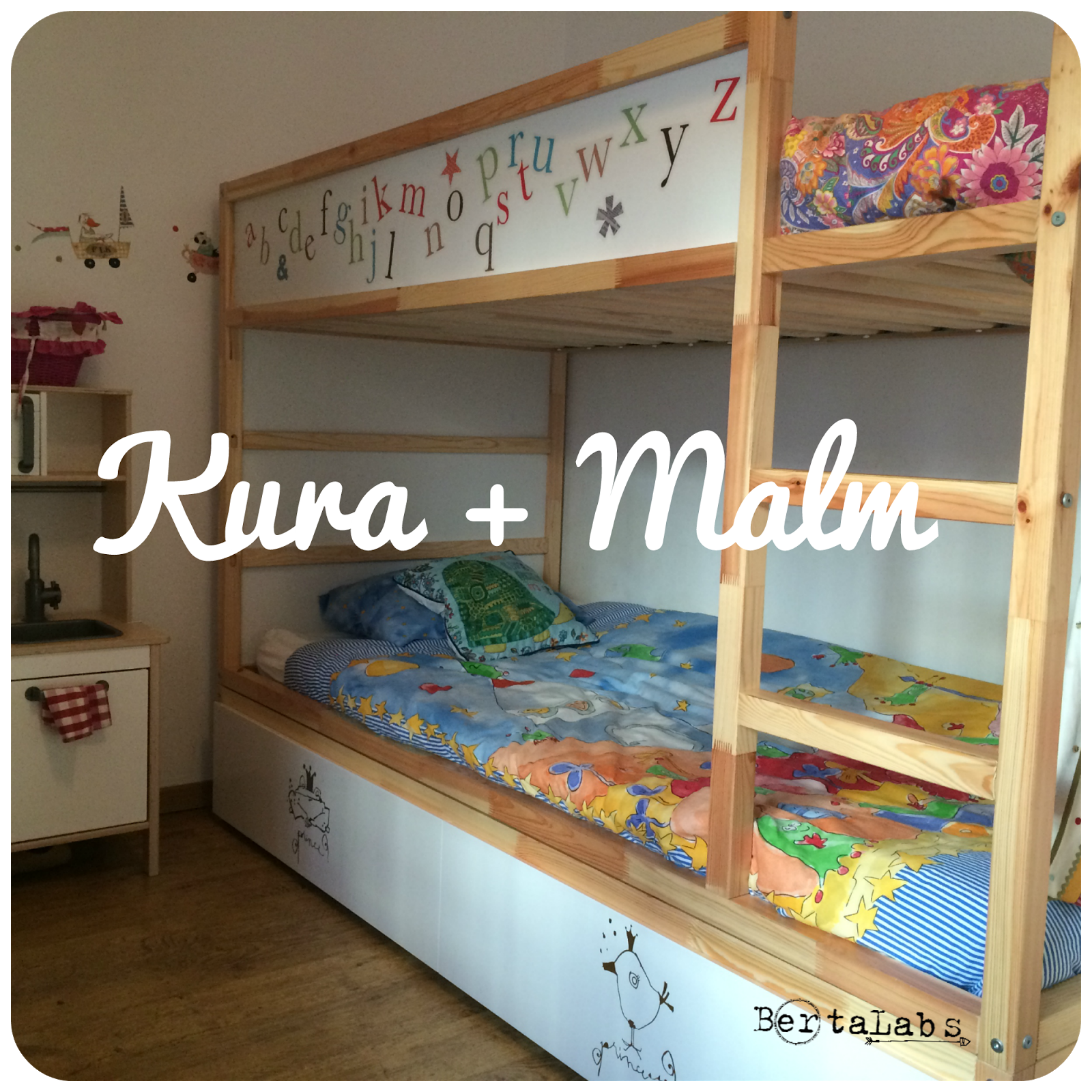 Customizar kura ikea malm lia 39 s room en 2019 kids for Cama nido con cajones ikea
