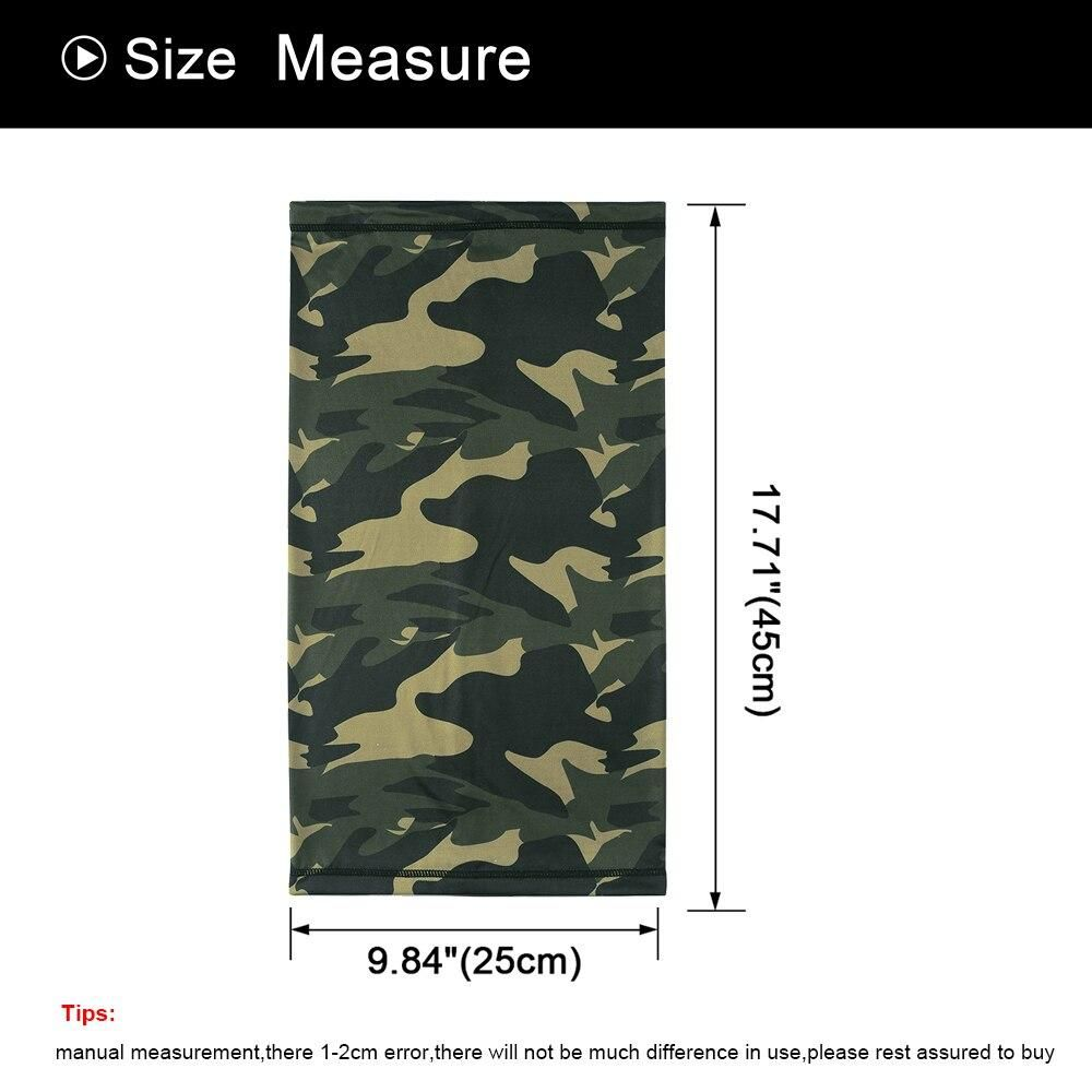 SUMMER CAMOUFLAGE NECK GAITER MOTORCYCLE MOTORBIKE HALF FACE MASK BALACLAVA SCARF TACTICAL RIDING SK