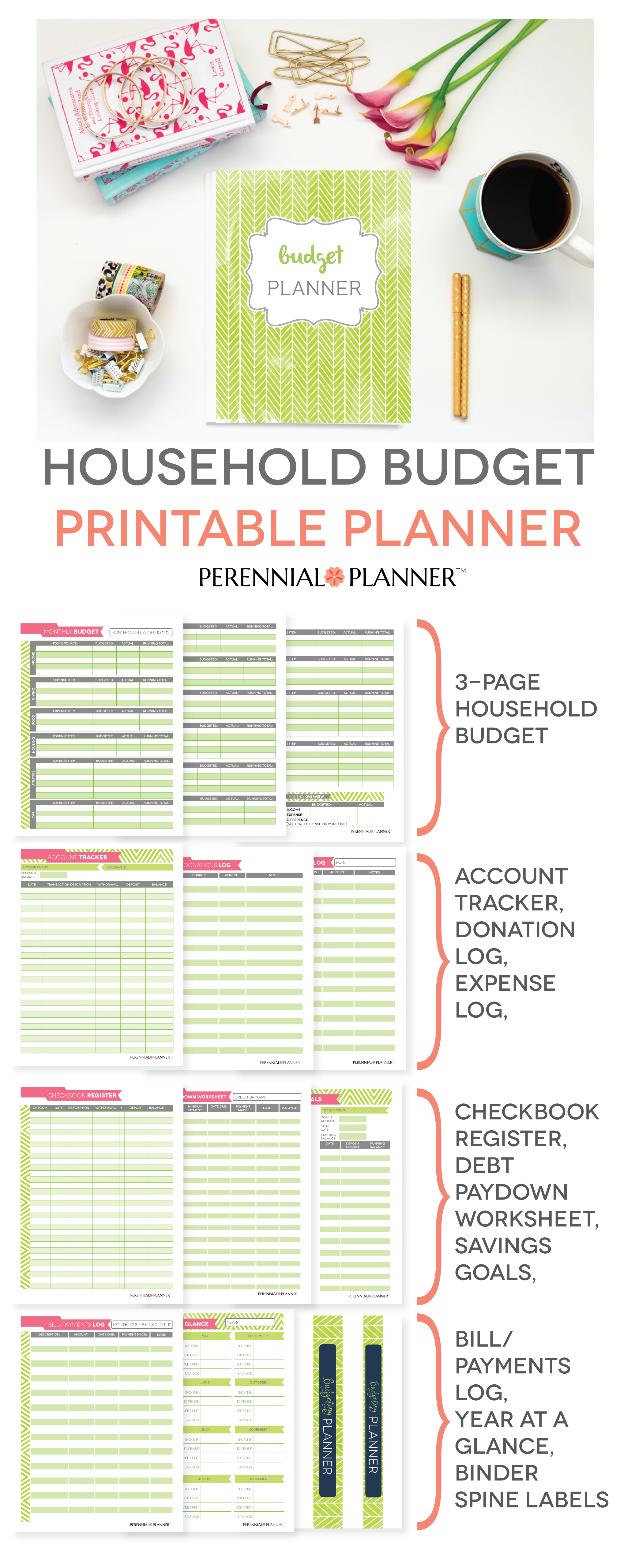 budget planner printable monthly household budget form financial
