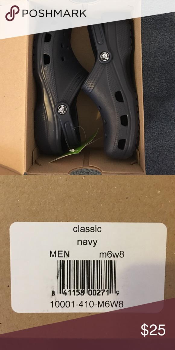 3e45c77105426 NIB Crocs New in box Crocs classic navy men size 6 women size 8. CROCS Shoes  Mules   Clogs