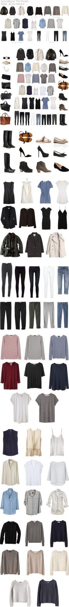 Capsule wardrobes by keelyhenesey liked on polyvore for Minimalistischer kleiderschrank
