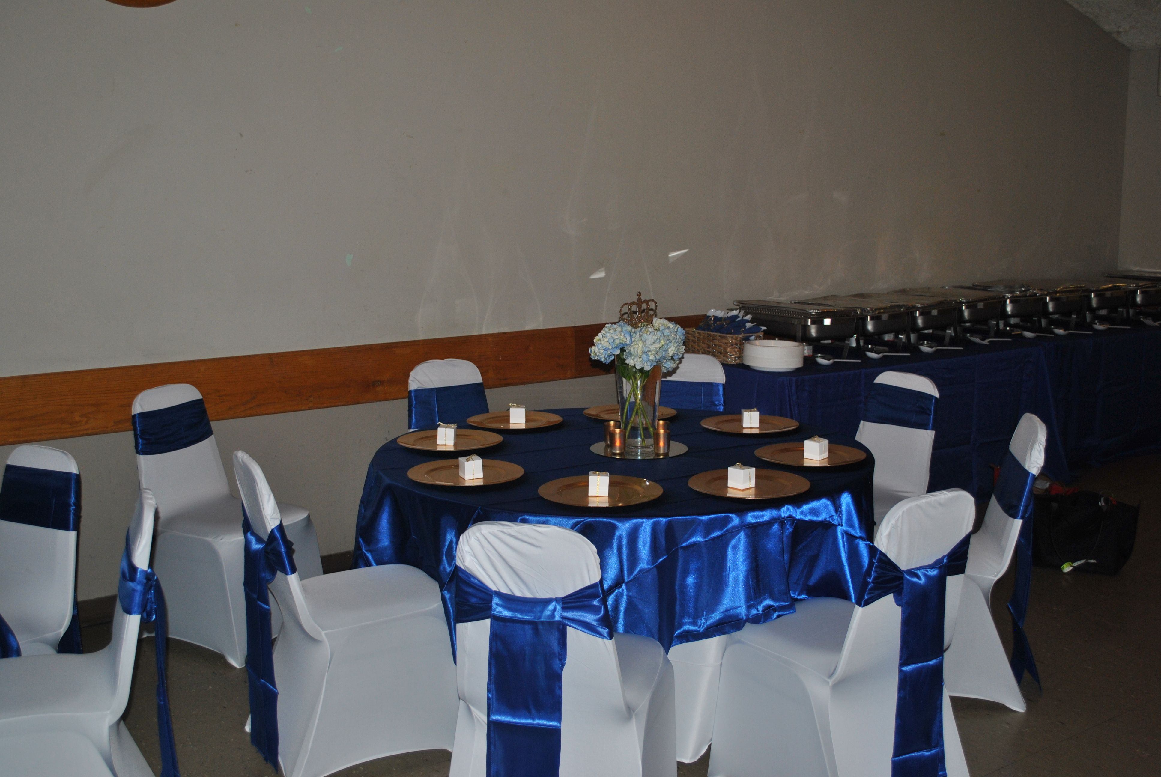 Blue And Gold Table Setting Royal Prince Baby Shower Royal Blue Gold Table Settings