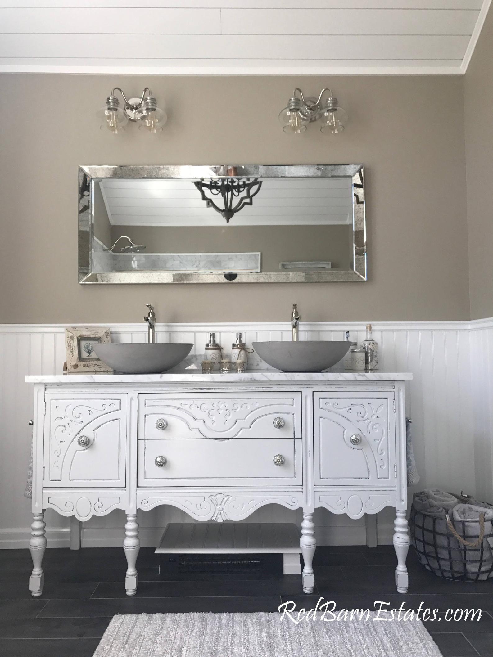 Antique Bathroom Vanity Double Or Single We Custom Convert Etsy Antique Bathroom Vanity Furniture Vanity Shabby Chic Bathroom Vanity
