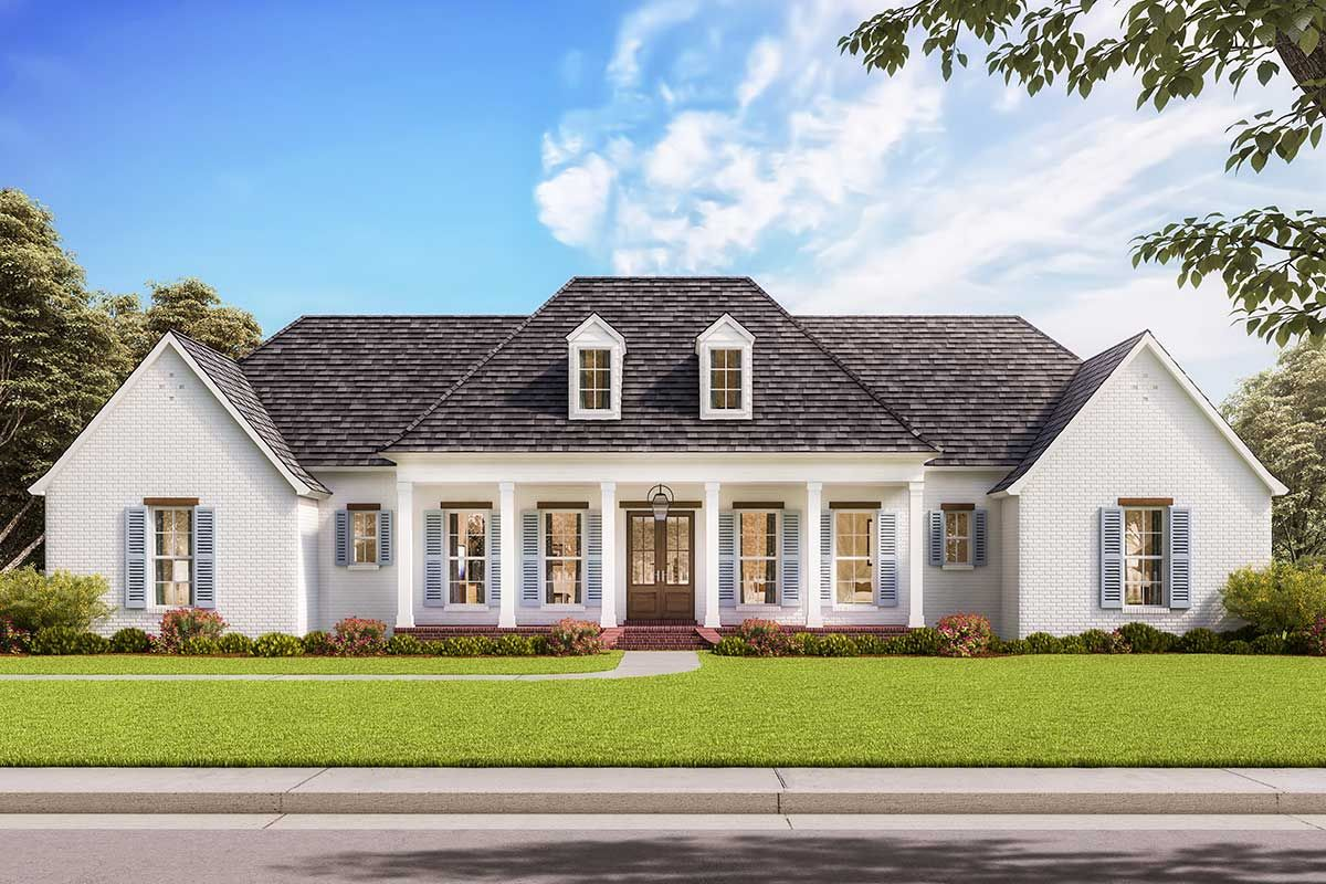 Classic Southern House Plan with Balance Symmetry