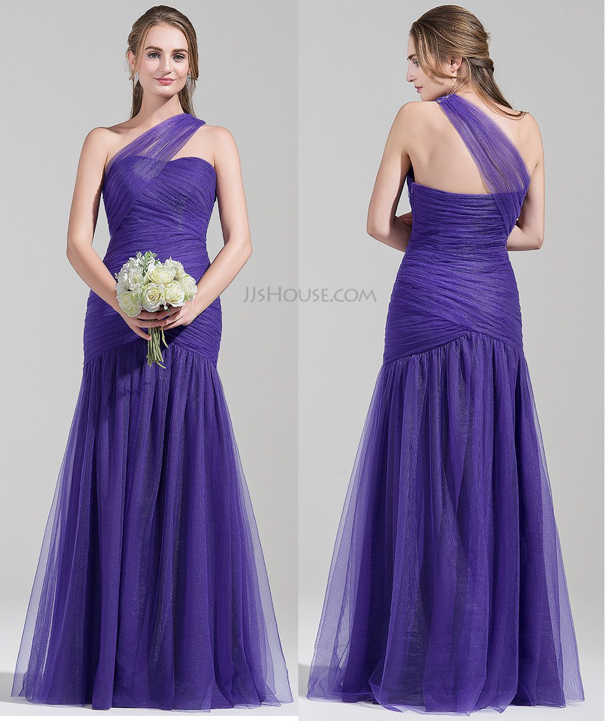 One shoulder regency bridesmaid dress Do you like the style