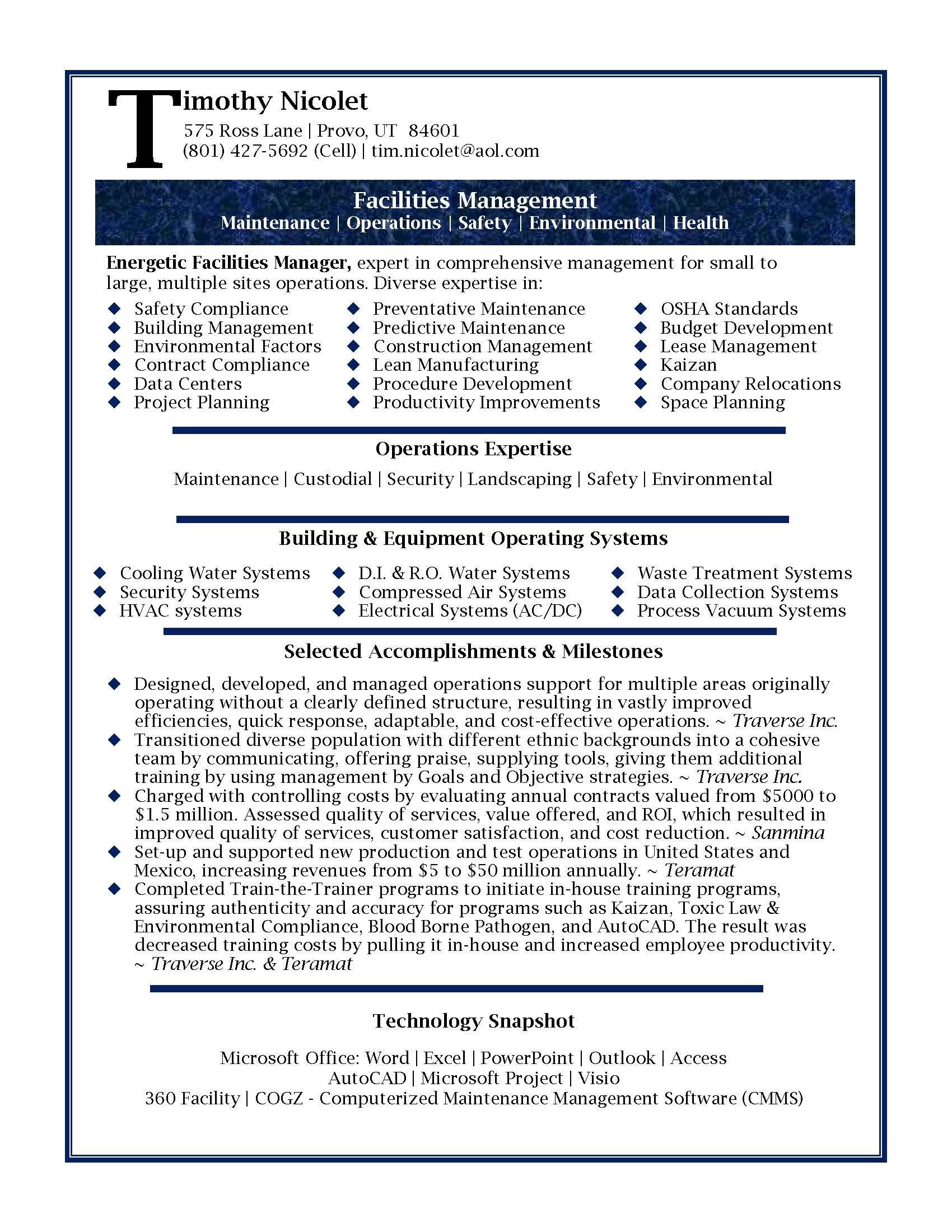 resume accomplishment