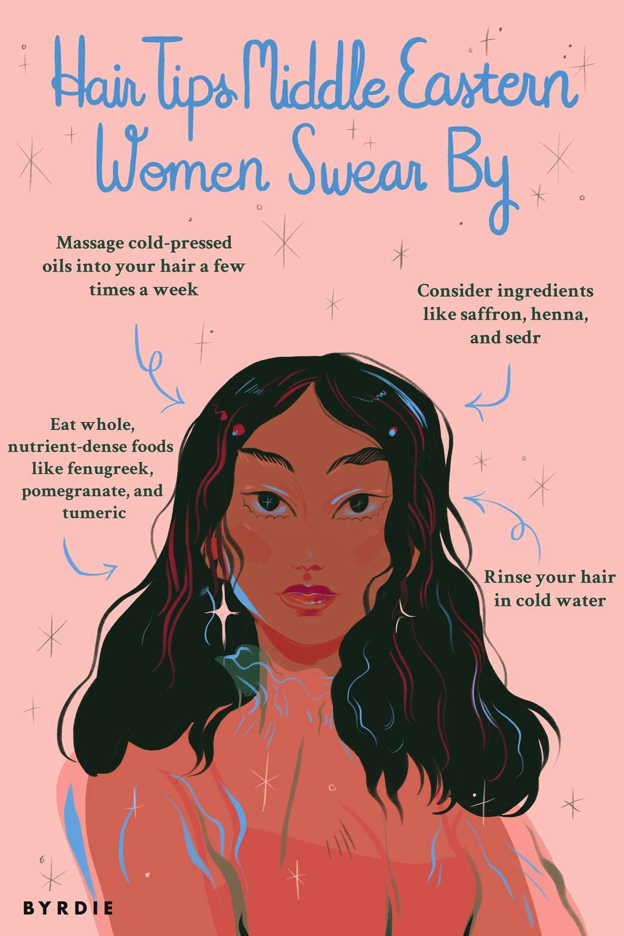 What Indian and Middle Eastern Women Know About Good Hair