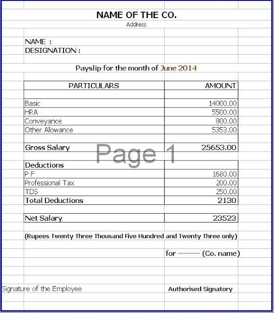 41 excellent salary slip payslip template examples thogati Thogati
