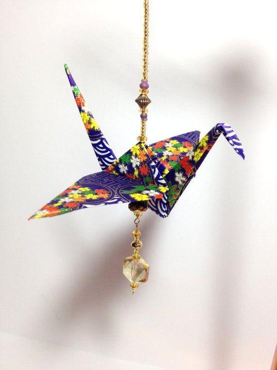 Photo of First Anniversary Gift, Wedding Keepsake Gift, Origami Ornament, Origami Crane, Japanese Cran…