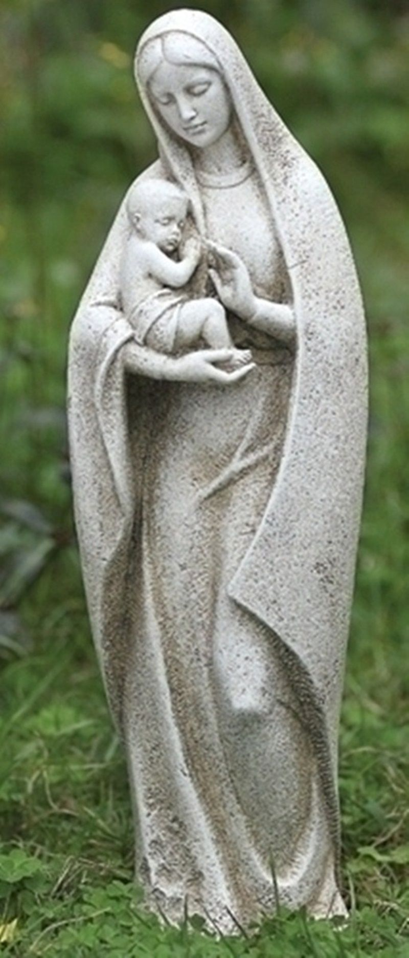 Blessed Mother Outdoor Statues | Details About Blessed Virgin Mary Mother  W/ Baby Jesus Garden