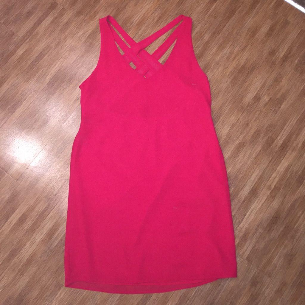 Red Strappy Back Mini Dress