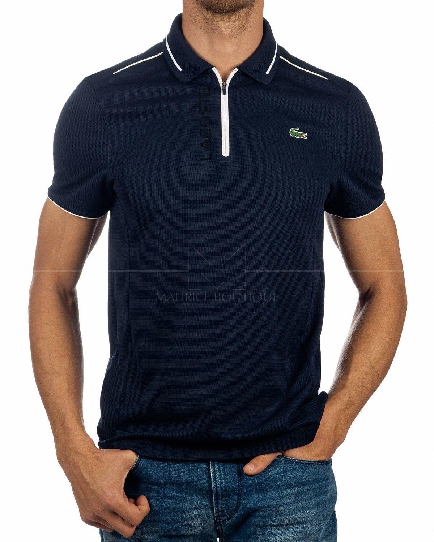Polo Shirt Lacoste Zip Navy Blue Sport Sports polo