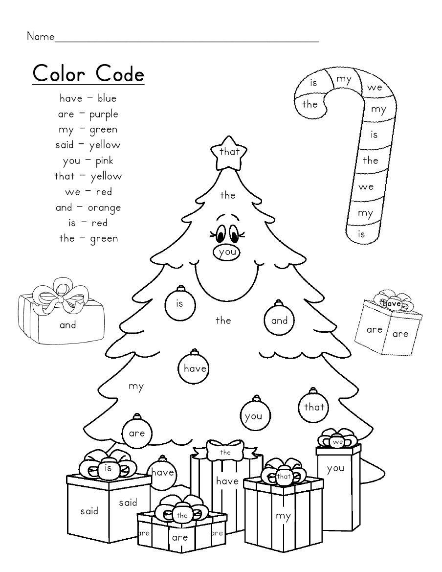 Christmas Tree Sight Words Scribd School, Christmas