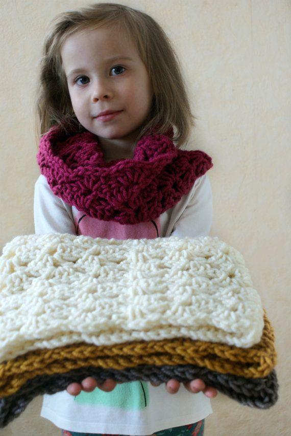 Crochet Pattern Baby Scarf Pattern Toddler Scarf Pattern Girls