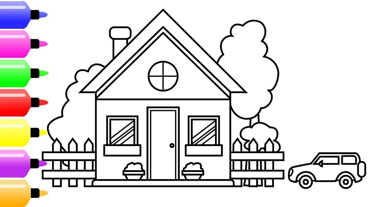 How to Draw a House with Car for
