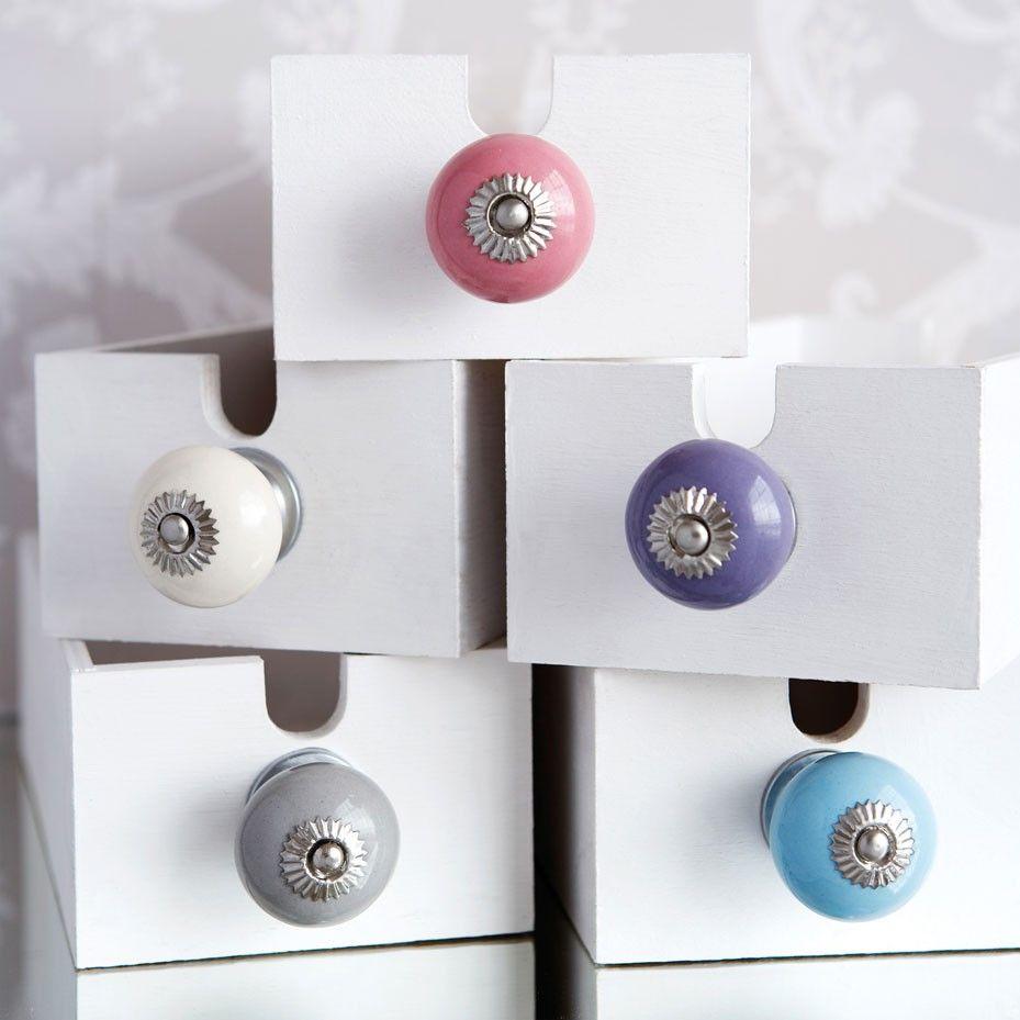 Bonbon Round Ceramic Door Knobs | Finishing Touches | Pinterest ...