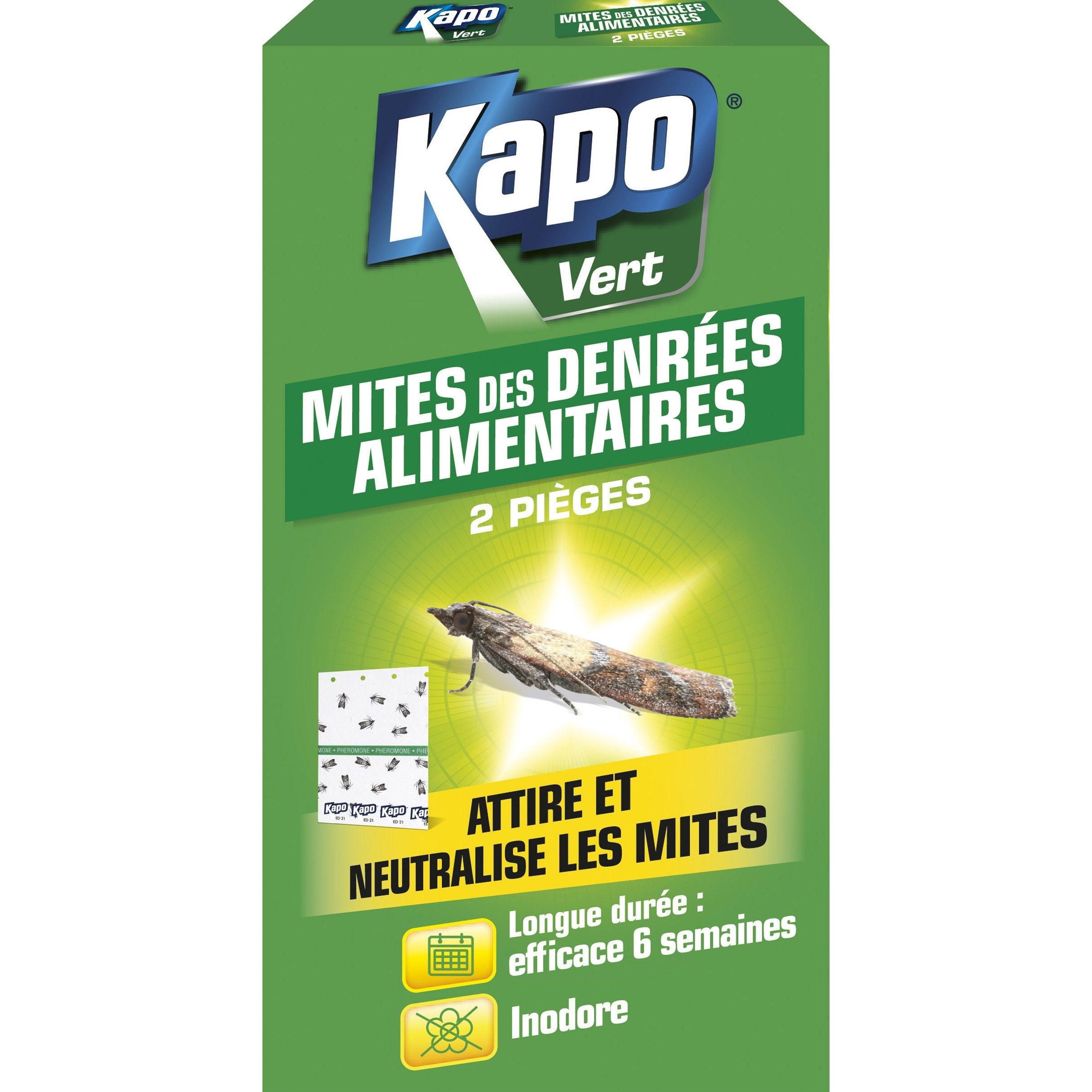 Lot De 2 Pieges Lot De 2 Pieges Insecticides Pour Mites Alimentaires Kapo Kapo Vert Mites Alimentaire Insecticide Alimentaire