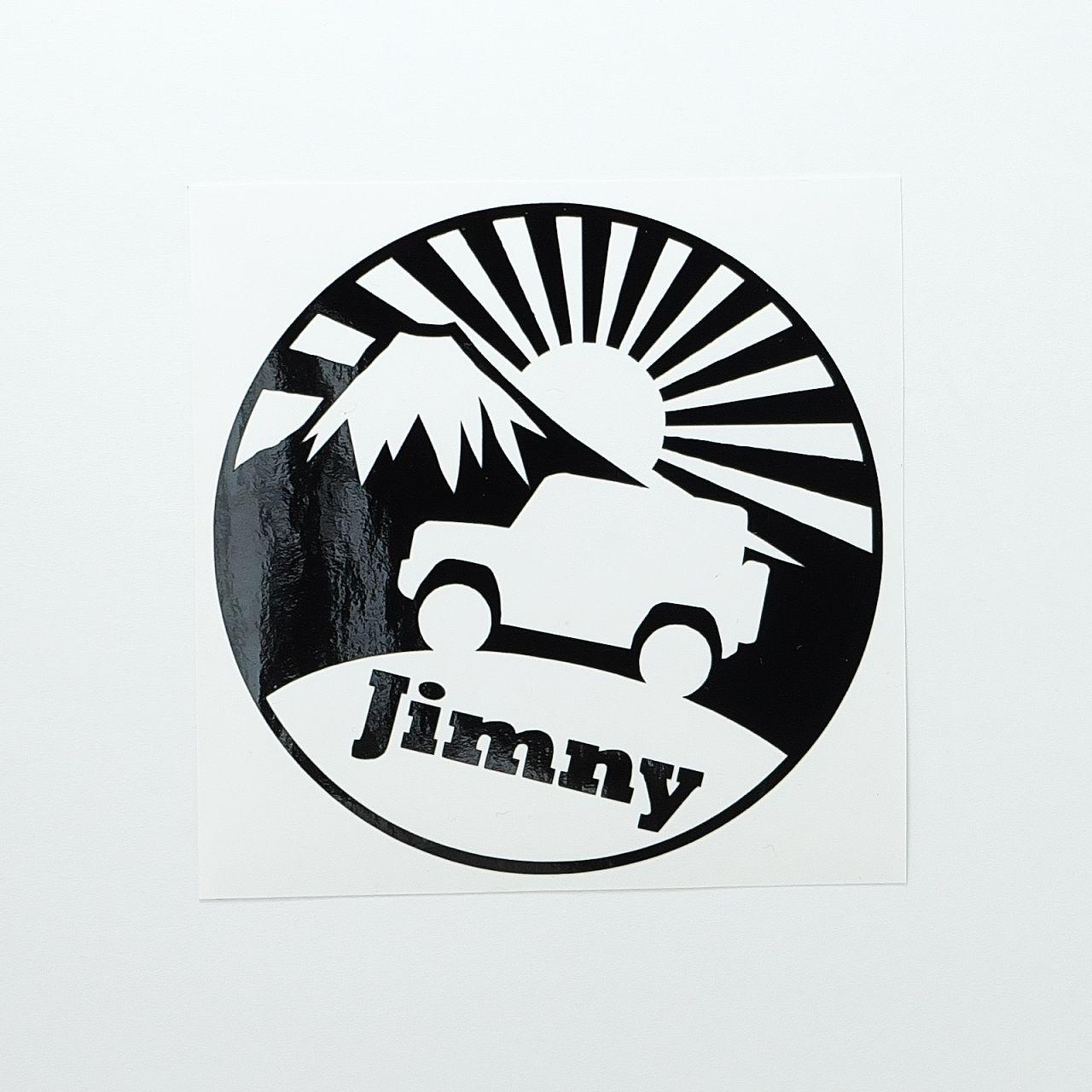 ステッカー ジムニー 富士山 ブラック ジムニー ステッカー ステッカー ジムニー