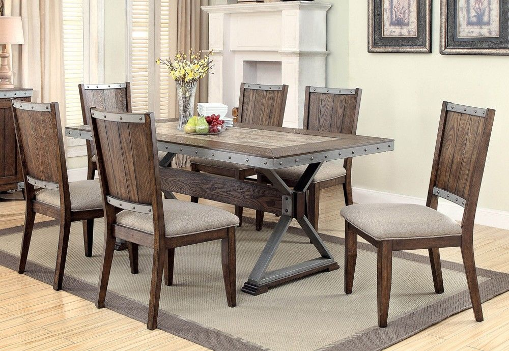 Doran Industrial Style Dining Table Set Furniture In 2019