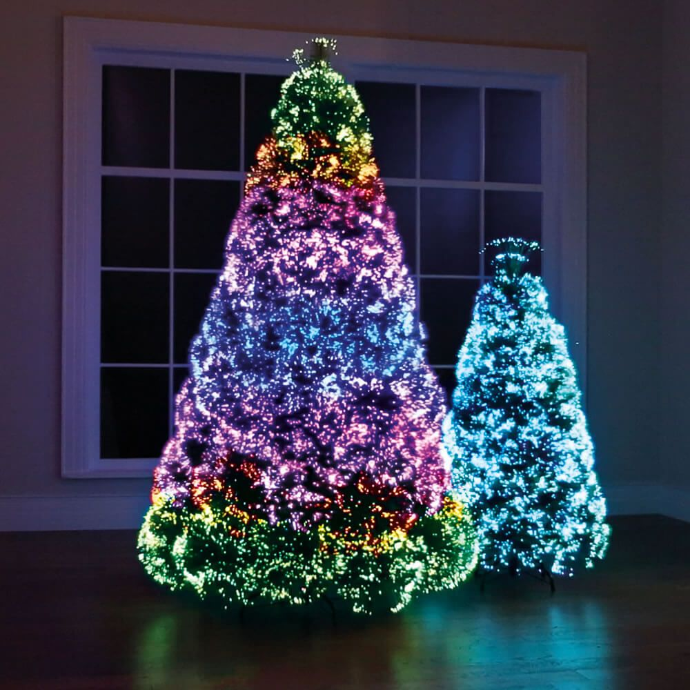Best Christmas Tree Light Ideas That You Can Also Try At Your Home Rainbow Christmas Tree Cool Christmas Trees Led Christmas Tree