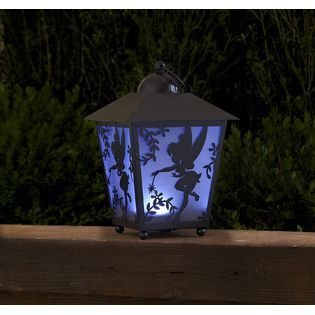Disney -13in Tinkerbell Silhouette LED Lantern with Timer