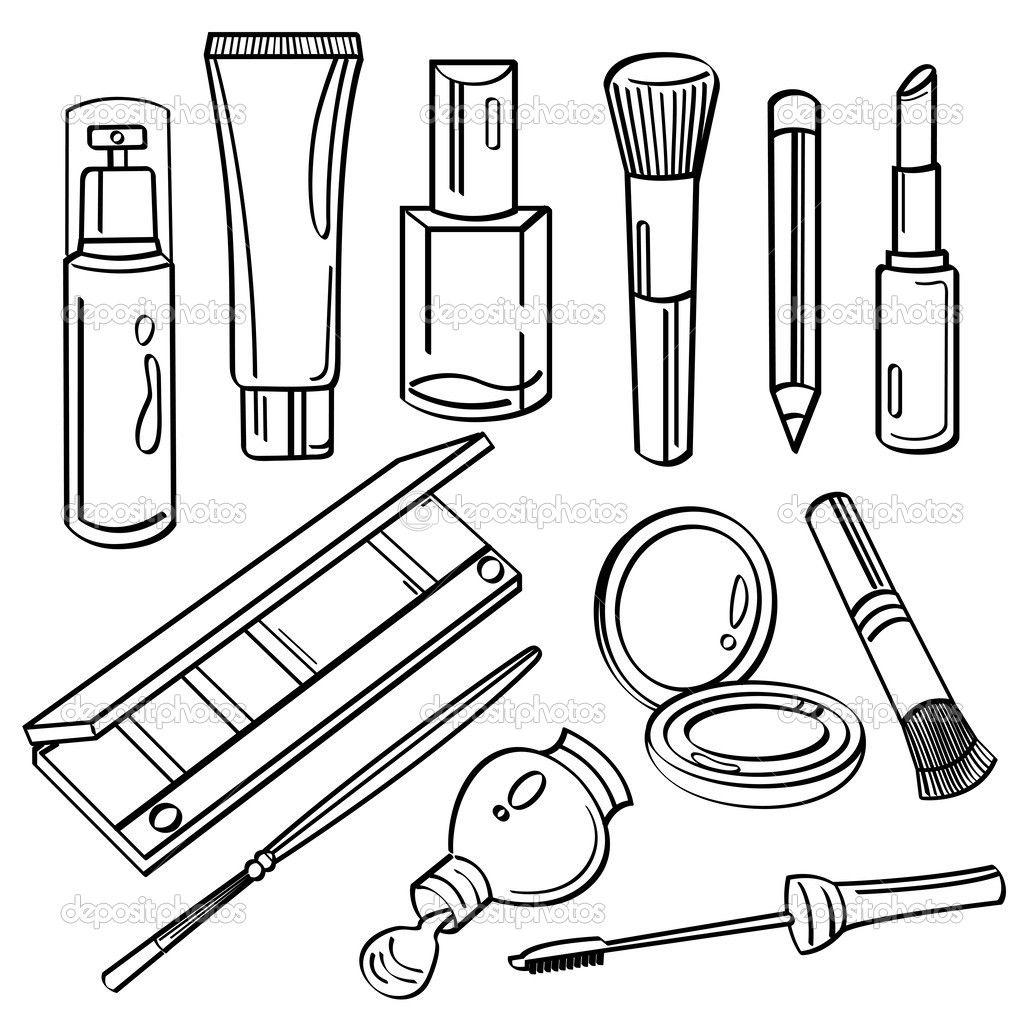 Resultado De Imagen Para Cosmeticos Para Dibujar Dibujos De Maquillaje Dibujos Bonitos Y Faciles Logo De Artista De Maquillaje