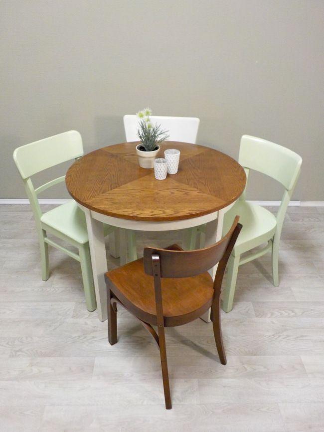 Frisch fertig schöner kleiner runder Esstisch, Tischplatte ist - kleiner küchentisch mit 2 stühlen