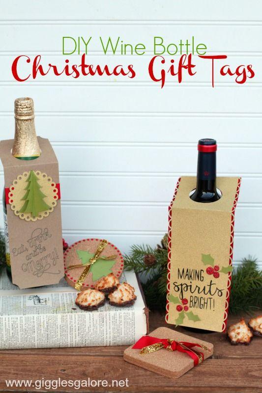 Diy Christmas Gift Idea Neat Wine Bottle Tags Cricut Template