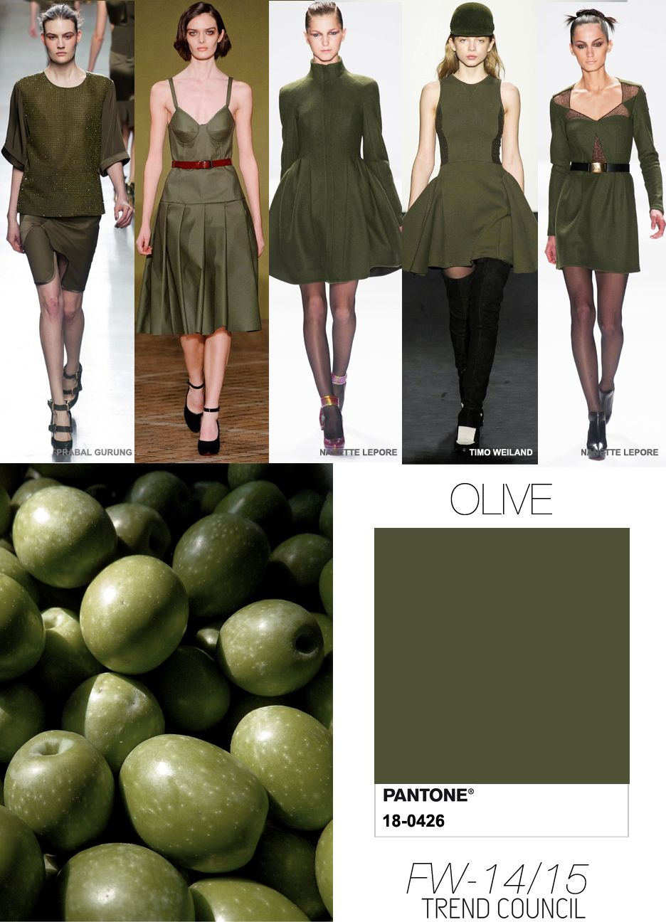Olive - be careful, not everyone can carry olive well, it can be quite draining but great used as a neutral with warmer colours