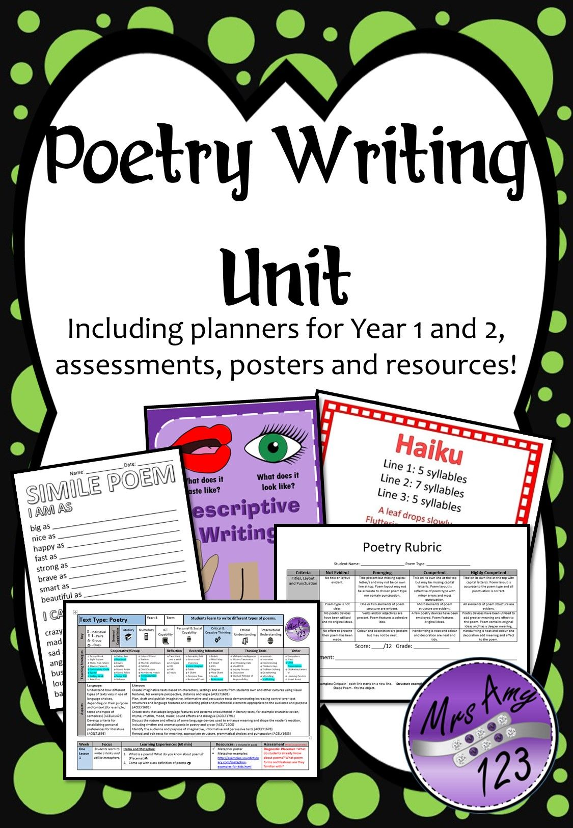 This Poetry Writing Unit Is A 10 Week Course With Ll