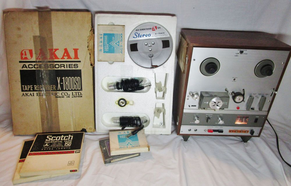 vintage x 1800sd akai reel to reel 8 track powers up accessories rh pinterest com