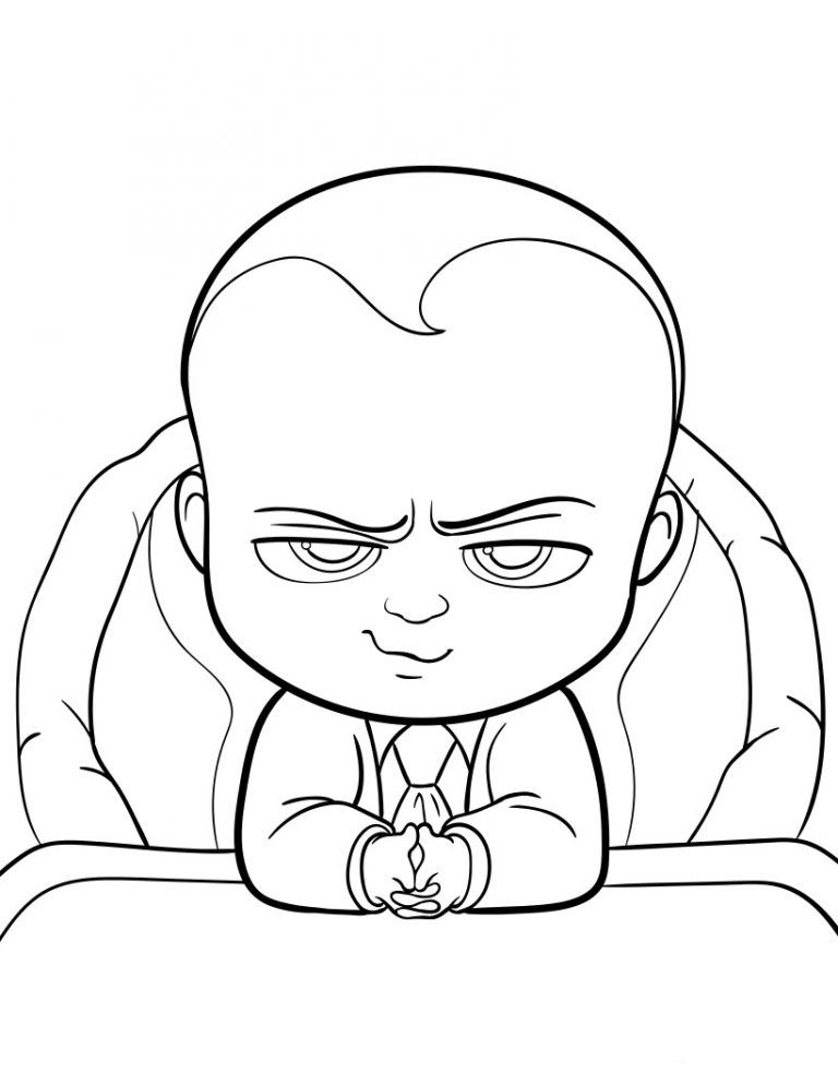 Print The Boss Baby colouring coloring pages | Baby coloring pages ... | 993x768