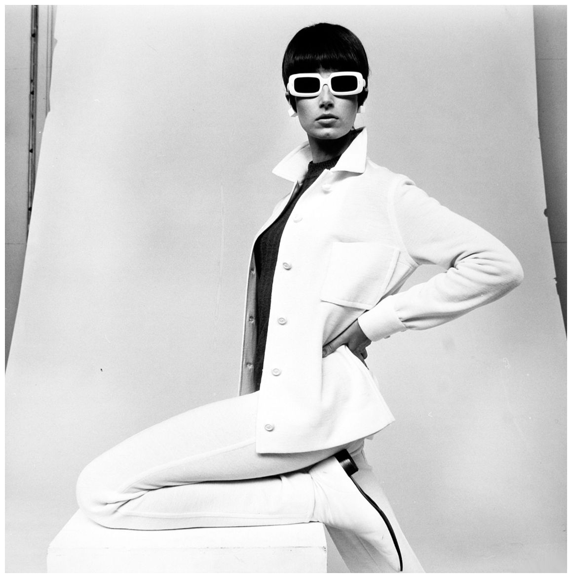 Bettina Lauer In Falke Fashion Hamburg 1967 Model Heels Nola Black
