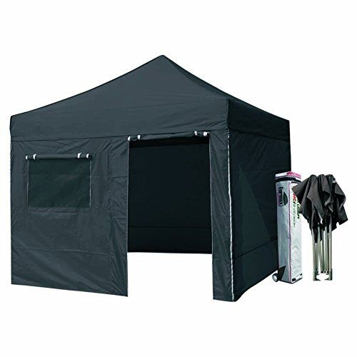 Eurmax 10x10 Pop Up Canopy Wedding Party Tent Instant Shelter With 4 Zipper End Sidewalls And Roller Bag Black Check Out Tent Outdoor Gazebos Camping Canopy
