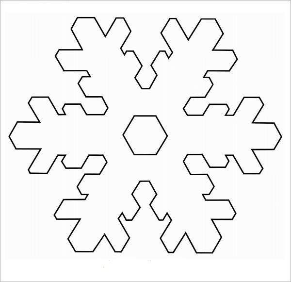Folding Snowflake Template  Kids And Parenting