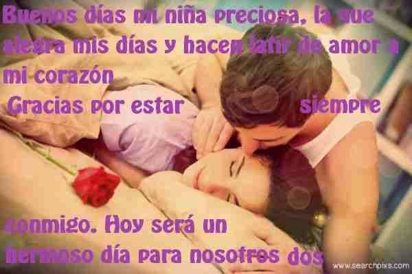 Buenos dias mi amor (Frases) | Places to Visit | Pinterest