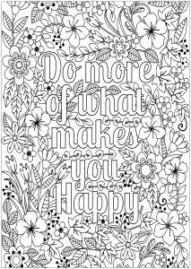 Positive And Inspiring Quotes Coloring Pages For Adults Page 2 In 2020 Quote Coloring Pages Coloring Pages Inspirational Flower Coloring Pages