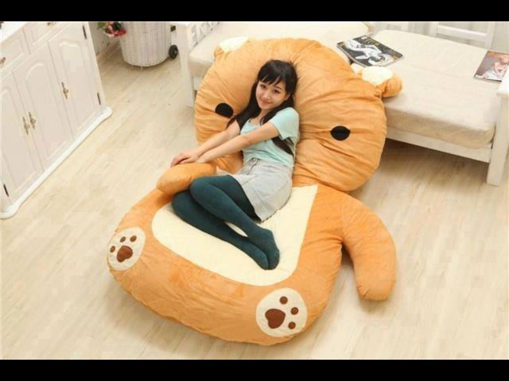 Totoro Design Big Sofa Lazy Bed Beanbag Chair Smile Style