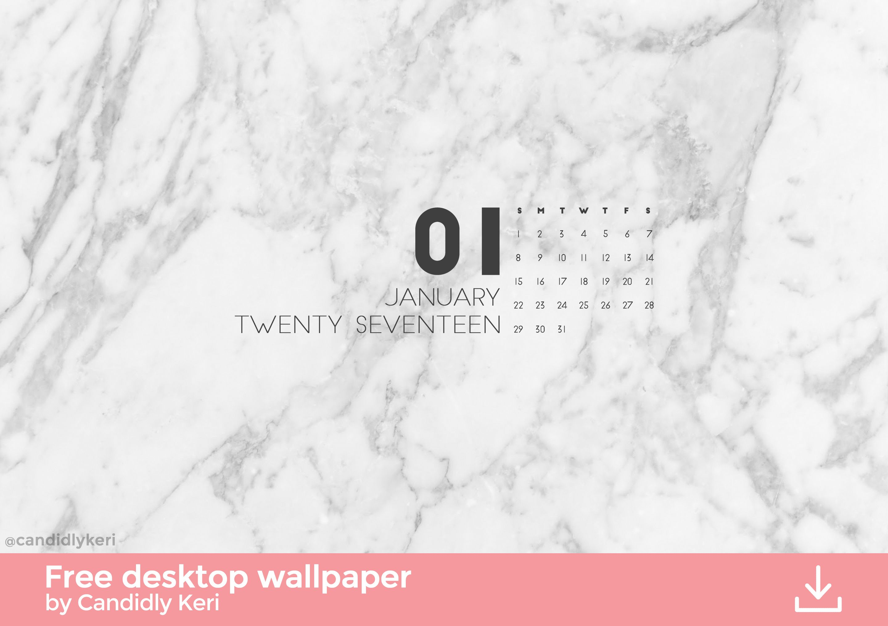 Marble Calendar Wallpaper : Marble organized january calendar wallpaper you can